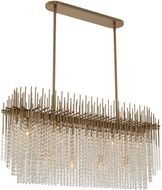 Allegri 037661-038-FR001 Estrella Brushed Champagne Gold Island Light Fixture
