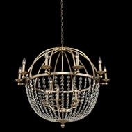 Allegri 037772-038-FR001 Pendolo Brushed Champagne Gold 37  Lighting Chandelier