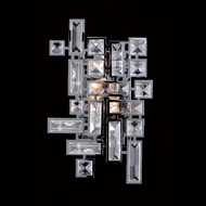 Allegri 11191 Vermeer Chrome Finish 12  Tall Wall Lighting Sconce