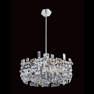 Allegri 11197 Vermeer Chrome Finish 49  Tall Lighting Pendant