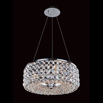 Allegri 11751 Arche Chrome Finish 16  Wide Drum Pendant Lighting