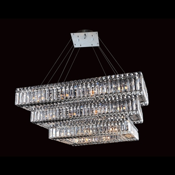 Allegri 11777 Quantum Baguette Chrome Finish 12  Wide Island Lighting