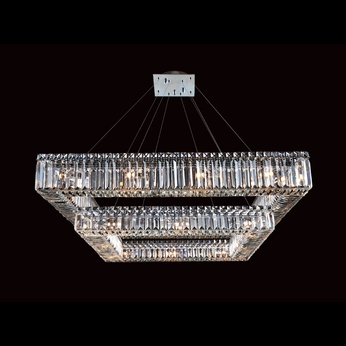 Allegri 11781 Quantum Quadro Chrome Finish 35  Wide Lighting Chandelier