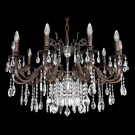 Allegri 25650 Avelli Sienna Bronze with Antique Silver Leaf Accents Chandelier Lamp