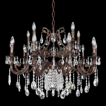 Allegri 25651 Avelli Sienna Bronze with Antique Silver Leaf Accents Chandelier Light