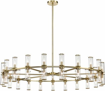 Alora CH309042NBCG Revolve   Contemporary Natural Brass 60.1 Hanging Chandelier