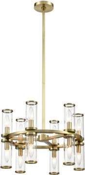 Alora CH309066NBCG Revolve   Modern Natural Brass Mini Lighting Chandelier