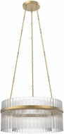 Alora CH314812VB Carlisle Contemporary Vintage Brass 36.8  Drum Hanging Light