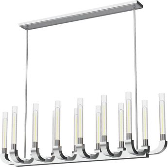 Alora LP316014PNCR Flute Contemporary Polished Nickel 66  Kitchen Island Light