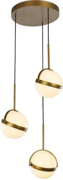 Alora MP301003SG Globo Contemporary Satin Gold LED Multi Ceiling Light Pendant