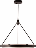 Alora PD302732CBSS Duo Modern Classic Black / Silver Shimmer LED 31.5 Hanging Light Fixture