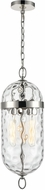 Alora PD310603PNWC Capsula Contemporary Polished Nickel Mini Drop Ceiling Light Fixture