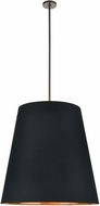 Alora PD311030UBBG Calor Contemporary Urban Bronze 30  Drum Pendant Lighting Fixture