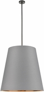 Alora PD311030UBGG Calor Contemporary Urban Bronze 30  Drum Hanging Pendant Lighting