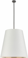 Alora PD311030UBWG Calor Modern Urban Bronze 30  Drum Hanging Pendant Light