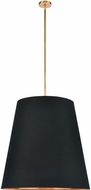 Alora PD311030VBBG Calor Modern Vintage Brass 30  Drum Pendant Hanging Light