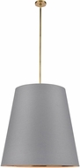 Alora PD311030VBGG Calor Modern Vintage Brass 30  Drum Hanging Light Fixture
