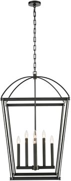 Alora PD312224UB Manor Modern Urban Bronze 24  Foyer Lighting Fixture