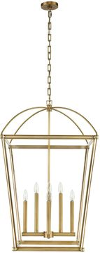 Alora PD312224VB Manor Contemporary Vintage Brass 24  Entryway Light Fixture