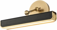 Alora PL307912VBTL Valise Modern Vintage Brass / Tuxedo Leather LED 12  Art Lamp