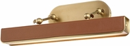 Alora PL307919VBCL Valise Modern Vintage Brass / Cognac Leather LED 20  Picture Lamp