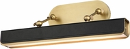 Alora PL307919VBTL Valise Modern Vintage Brass / Tuxedo Leather LED 20  Art Lighting Fixture