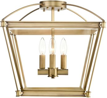 Alora SF312204VB Manor Contemporary Vintage Brass Overhead Lighting
