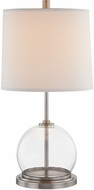 Alora TL304023ANWL Coast Contemporary Aged Nickel / White Linen Table Lamp