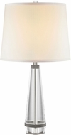 Alora TL315229PNWS Calista Contemporary Polished Nickel / White Silk Table Lighting