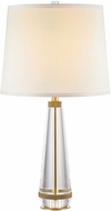 Alora TL315229VBWS Calista Contemporary Vintage Brass / White Silk Table Lamp Lighting