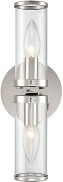 Alora WV309002PNCG Revolve   Modern Polished Nickel Wall Lamp