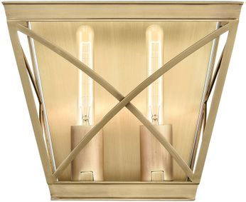 Alora WV309602VB Lattice Contemporary Vintage Brass Light Sconce