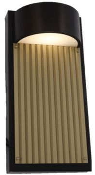 Arnsberg 226260928 Las Cruces Modern Bronze / Gold LED Exterior 12  Wall Mounted Lamp