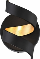 Arnsberg 229910202 Spiral Contemporary Black / Gold LED Wall Sconce Light