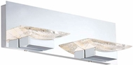 Arnsberg 282510206 H2O Modern Chrome LED 2-Light Vanity Light