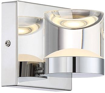 Arnsberg 282710106 H2O Modern Chrome LED Light Sconce