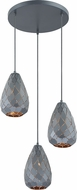 Arnsberg 300300335 Onyx Contemporary Museum Black Multi Pendant Lamp