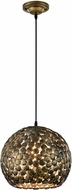 Arnsberg 302200104 Frieda Contemporary Antique Brass Pendant Lighting Fixture