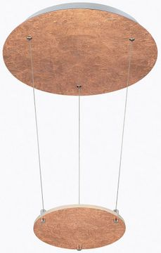 Arnsberg 323810109 Zenith Contemporary Copper / Silver LED Hanging Pendant Lighting