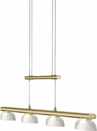 Arnsberg 324390408 Senator Modern Satin Brass LED Ceiling Light Pendant