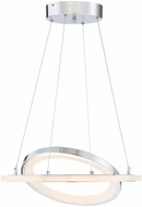 Arnsberg 376013606 Saturn Modern Chrome LED Hanging Lamp