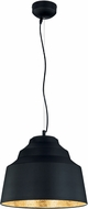 Arnsberg 376610302 Naples Contemporary Black / Gold LED Hanging Light