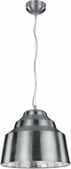 Arnsberg 376610307 Naples Modern Satin Nickel / Silver LED Pendant Light Fixture