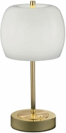Arnsberg 528990503 Pear Contemporary Polished Brass LED Accent Table Light