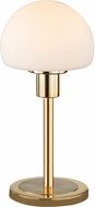 Arnsberg 529210108 Wilhelm Contemporary Satin Brass LED Accent Table Top Lamp