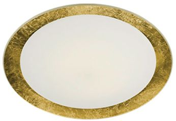 Arnsberg 656812079 Vancouver Contemporary Opal / Gold LED 16 Ceiling Light Fixture