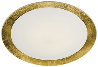 Arnsberg 656813079 Vancouver Contemporary Opal / Gold LED 20 Ceiling Light Fixture