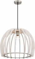 Arnsberg R30255027 Wood Contemporary White Drop Ceiling Light Fixture