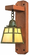 Arroyo Craftsman AWS-1 A-Line Craftsman Wall Sconce with Mahogany Backplate