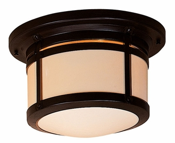 Arroyo Craftsman BCM-12 Berkeley Outdoor Flush Mount Ceiling Light - 13.75 inches wide